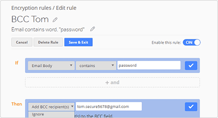 Set Rules to Automatically Encrypt Emails