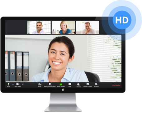 One Click Video & Phone Conference Calls With Screen Sharing